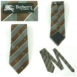 Burberry Of London Silk Tie Knight Logo